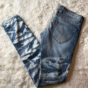 Bebe Low Rise Embellished Jeans Size 26